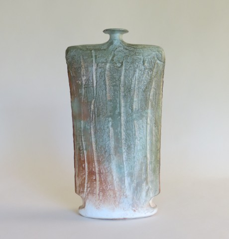1980s Sculpture Hand Produced Studio Pottery Vase by John Bedding