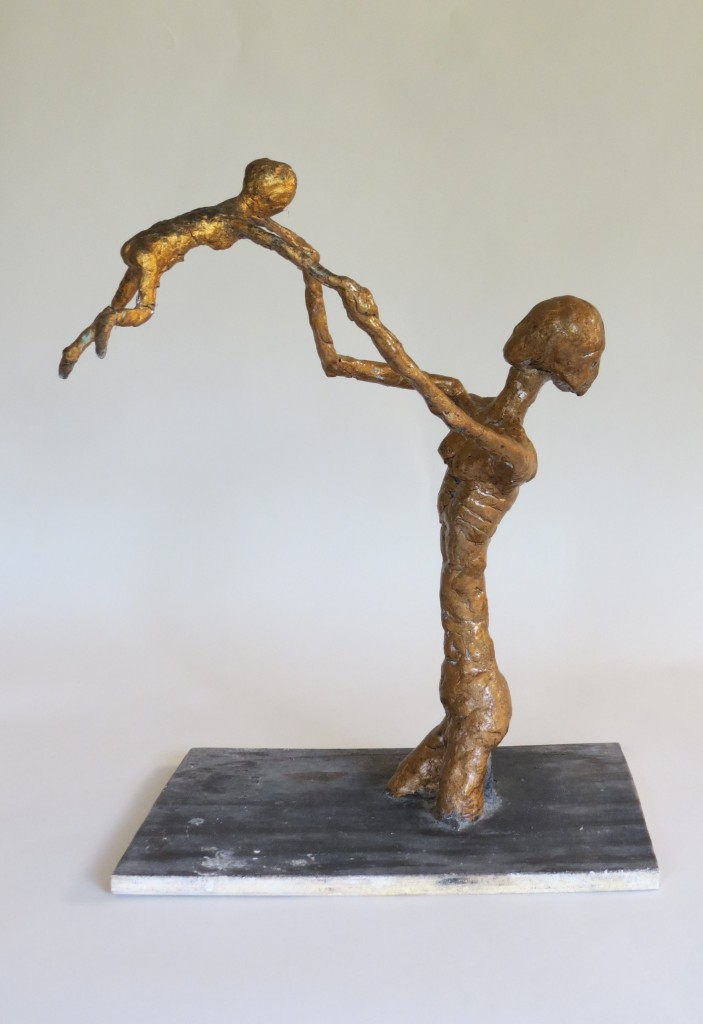 Plaster Maquette sculpture of Mother and Child by Bill Young