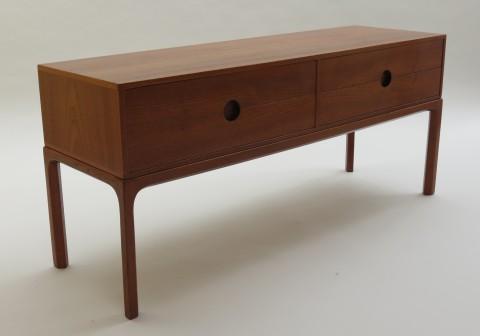 Teak 4 drawer cabinet by Aksel Kjersgaard, Denmark