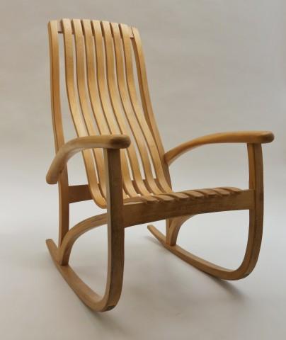 Bespoke Lace Wood Rocking Chair