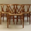 Hans J Wegner Wishbone Chairs, set of 6 image 3