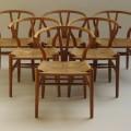 Hans J Wegner Wishbone Chairs, set of 6 image 4