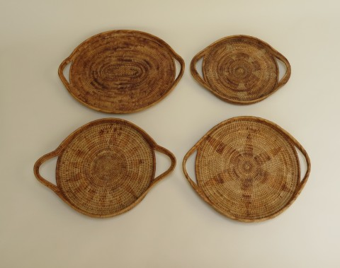 Vintage Soloman Hand Woven Baskets