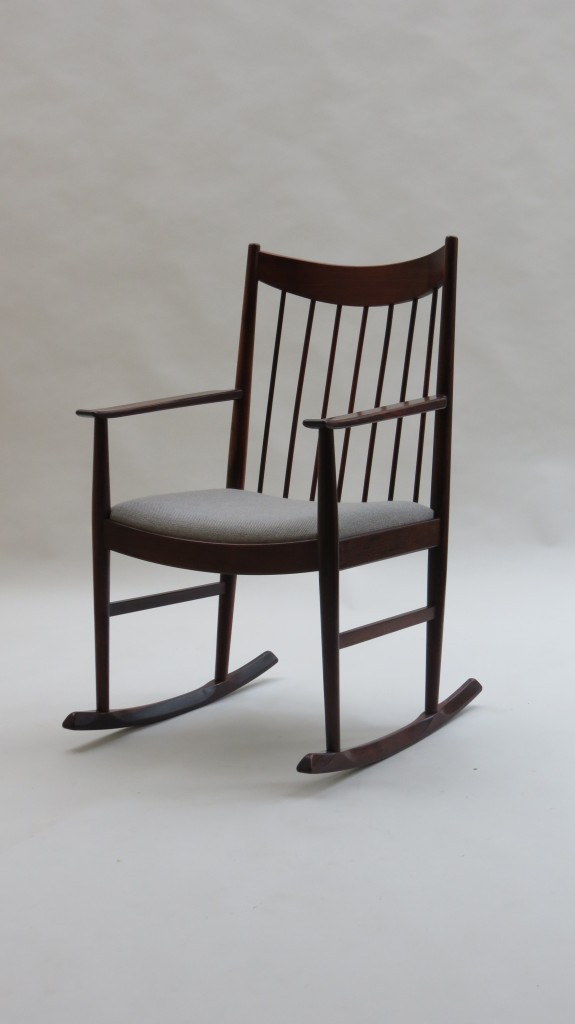 Danish Rosewood Rocking Chair Arne Vodder