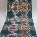 Original 1960s Hand Screen Printed Hull Traders Totem Cotton Fabric New Old Stock image 5