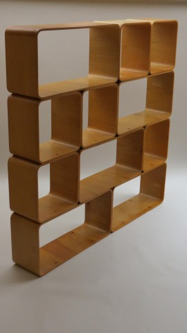 Extremely Rare Italian Bent Plywood Modular Storage System