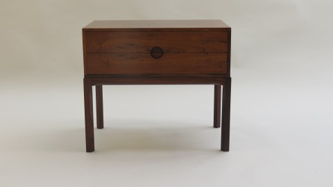 Danish 2 Drawer Rosewood Cabinet by Aksel Kjersgaard