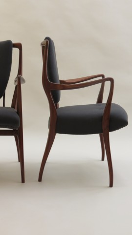 Pair of Rosewood chairs by A J Milne