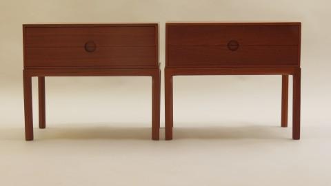 Pair of Danish bedside cabinets by Aksel Kjersgaard