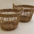 Mid century Large French Fruit Picker Basket – 2 available image 1