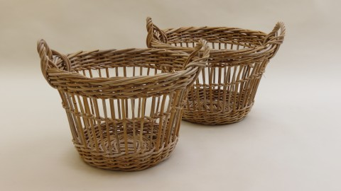 Mid century Large French Fruit Picker Basket – 2 available