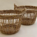 Mid century Large French Fruit Picker Basket – 2 available image 5