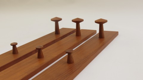 Teak Coat Racks by Aksel Kjersgaard