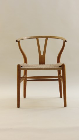 3 Hans J Wegner Wishbone Chairs