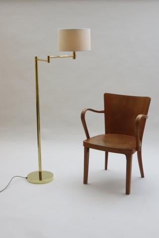 1970s Solid Brass Floor  Lamp