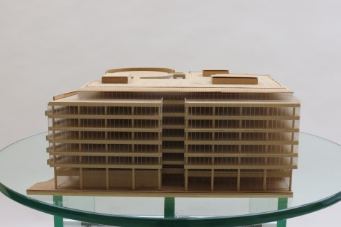 1970s Plywood and perspex Modernist Architect's Building Model
