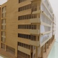 1970s Plywood and perspex Modernist Architect's Building Model image 5