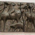 Scandinavian Sculptural Bronze Effect Wall Art  1960s image 5