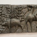 Scandinavian Sculptural Bronze Effect Wall Art  1960s image 6