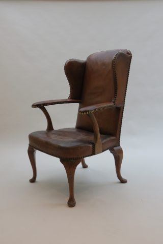 Hansen Lysberg and Therp 1940s Danish Leather Armchair