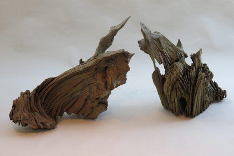 Large Sculptural Hard Wood Garden Sculpture