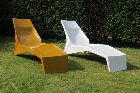 1960s Pop Art Fibreglass Sun Loungers
