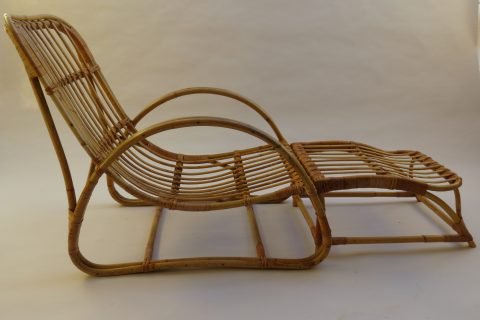Cane Chair And Footstool By Dryad 1960s