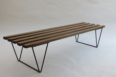 1960s Slatted Bench In The Style Of Hille Interplan 152cm Long