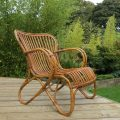 1920s Cane and Rattan lounge chair image 1