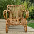 1920s Cane and Rattan lounge chair image 2