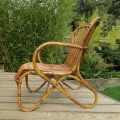 1920s Cane and Rattan lounge chair image 3