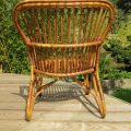 1920s Cane and Rattan lounge chair image 4