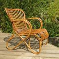 1920s Cane and Rattan lounge chair image 5