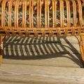 1920s Cane and Rattan lounge chair image 6