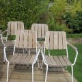 Set of 4 vintage Danish Garden Garden chairs by Daneline image 1