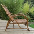 1920s Cane and Rattan Reclining Chair and Footstool image 2