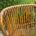1920s Large Cane and rattan lounge chair image 6