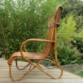 1920s Large Cane and rattan lounge chair image 3