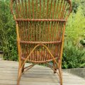 1920s Large Cane and rattan lounge chair image 4