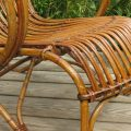 1920s Large Cane and rattan lounge chair image 5
