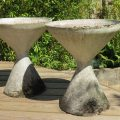 1960s Pair of Diablo Concrete Planters by Florastone image 1