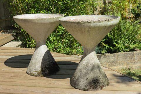 1960s Pair of Diablo Concrete Planters by Florastone