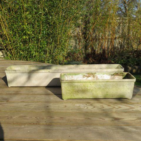 1970s Willy Guhl Fibrous Concrete Long planters st982