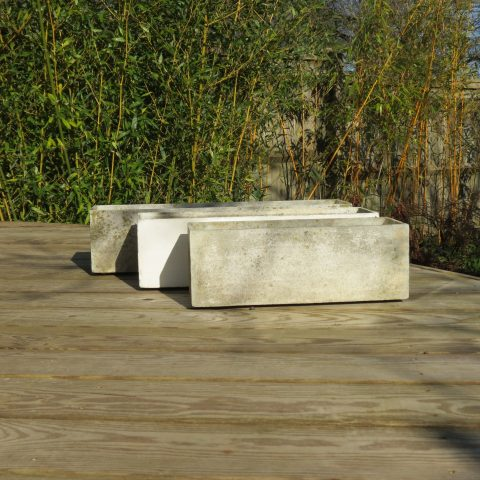 1970s Willy Guhl style graduated Concrete Planters st985