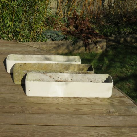 1970s Willy Guhl style Concrete Planters st990