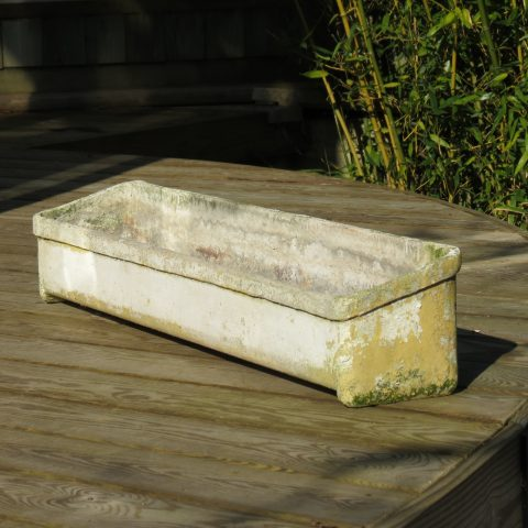 1970s Willy Guhl Fibrous Concrete Angular Planter st992