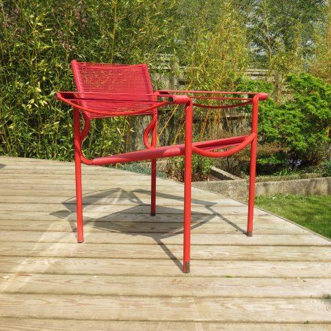 Alias Spaghetti chair by Giandomenico Belotti Italy 1980s in red