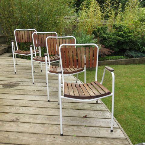 Daneline Garden Chairs in Teak set of 4
