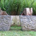 Large pair of 1970s Square Concrete Garden Planters image 2