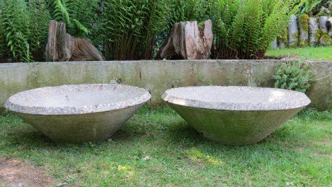 1970s Large pair of Concrete Municipal Garden Planters a
